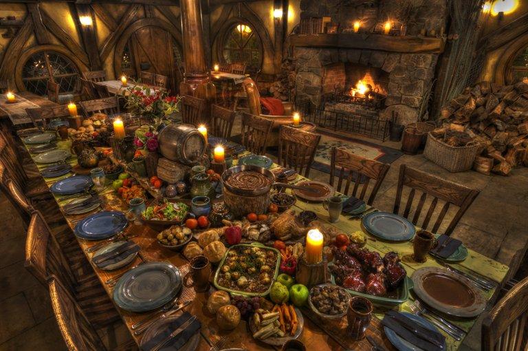 Hobbiton Movie Set Evening Banquet