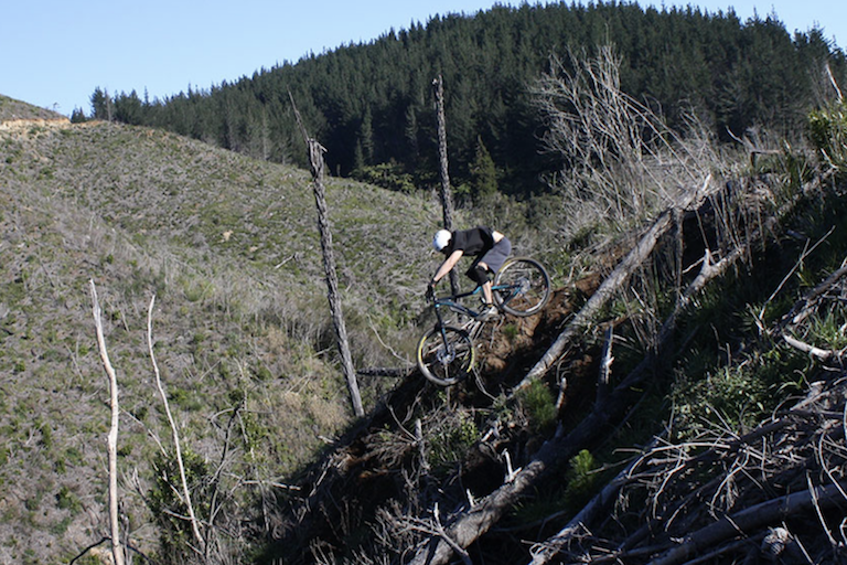 Whangamata Ridges MTB solo rider